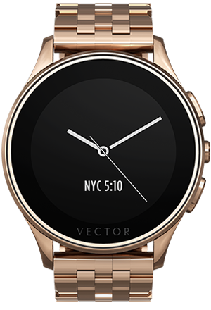 Smart Wearable Gear – VECTOR LUNA SMART WATCH – Rose Gold with Rose Gold Bracelet