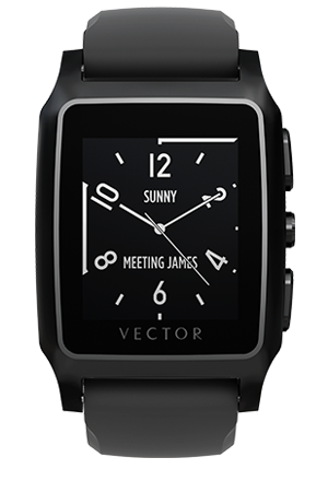 Smart Wearable Gear – VECTOR MERIDIAN SMART WATCH – Black Silicone Sport