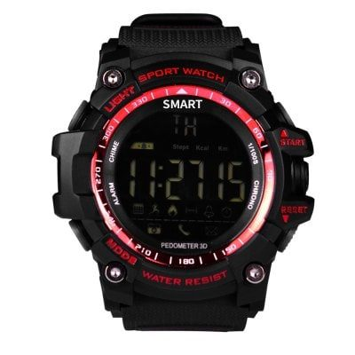 Smart Wearable Gear – EX16 Sports Bluetooth Smart Watch 5ATM IP67 Waterproof Smartwatch Pedometer Stopwatch Alarm Clock