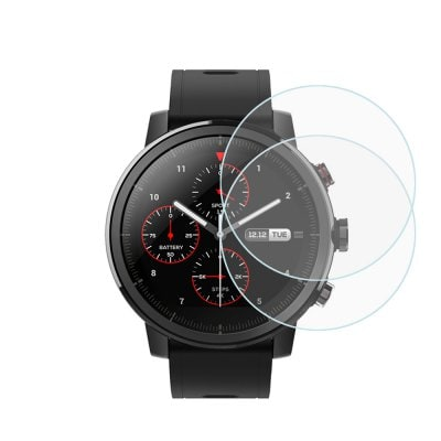 Smart Wearable Gear - 2pcs Tempered Glass Screen Protector for Xiaomi Huami Amazfit Smartwatch 2